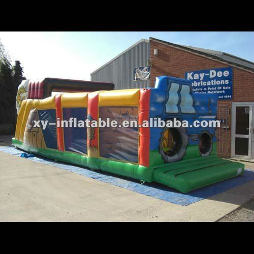 Summer Hot Sports Games Inflatable Farm Yard Fun Runs Obstacle Course