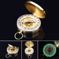 DIHAO New High Quality Classic Brass Pocket Watch Style Compass