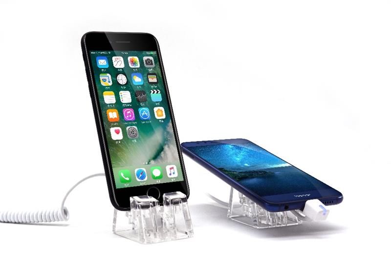 High-transparent cellphone holder for <strong>retail</strong> merchandise