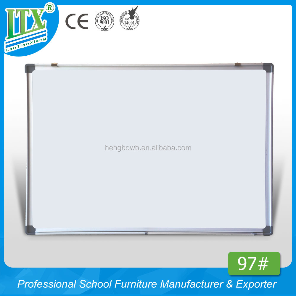 HB-97# Grey ABS corners magnetic whiteboard , aluminum alloy frame easy wipe writing board , high grade hanging message board