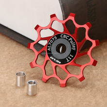 GUB 1Pcs 11T 12T 14T Bicycle Rear Derailleur Pulley MTB Road Bike Rear Derailleur Pulley Roller Idler Bearing Jockey Wheel
