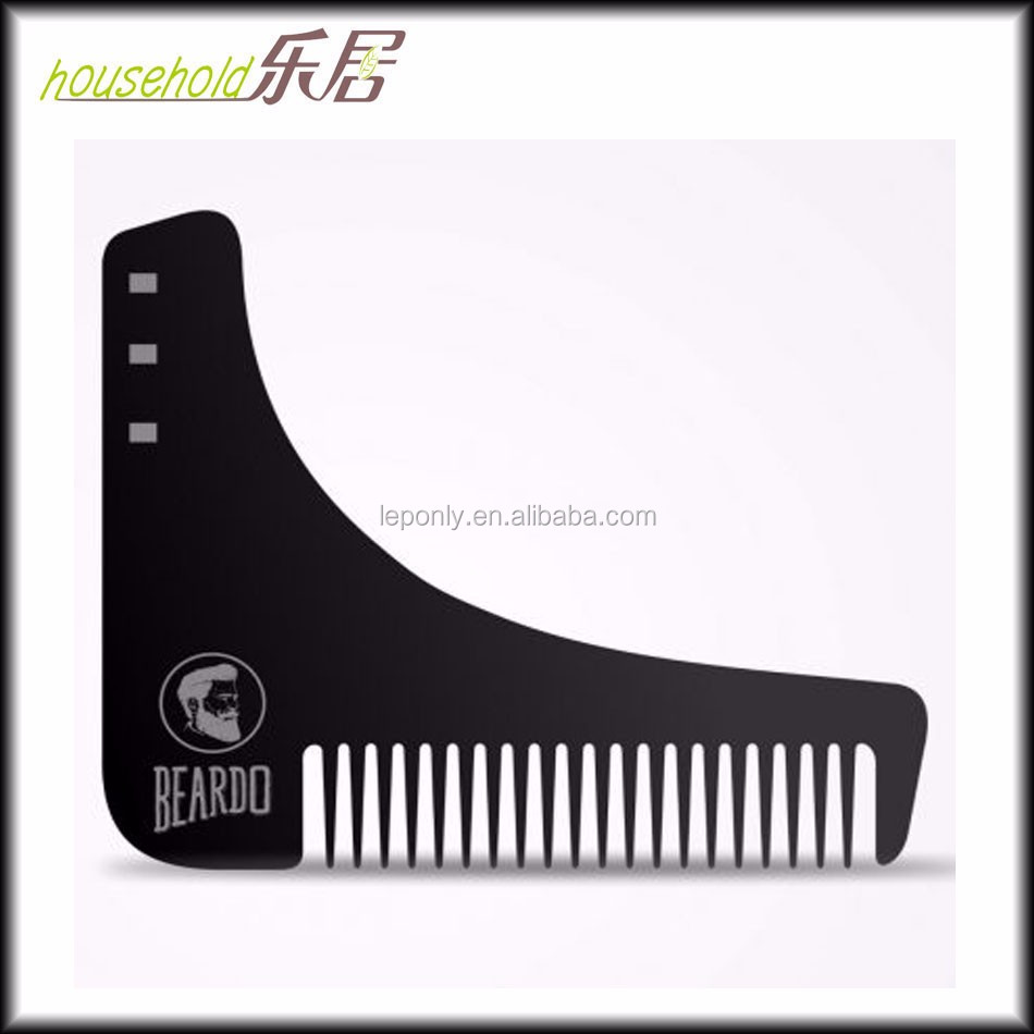 High End personalized plastic beard comb square beard comb