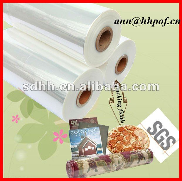 Eco-friendly SGS Plastic Packing Pof Shrink Film