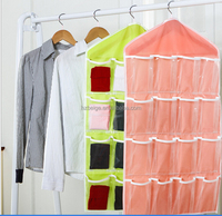 Clear PEVA Pockets Socks and Underwear Hanging Organizer