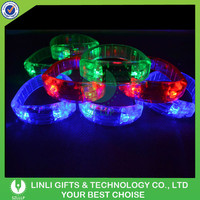 Music/Event/Concert Voice Activated LED Wristband Manufacturer Supplier Club LED Light PVC Colorful Party Wristband