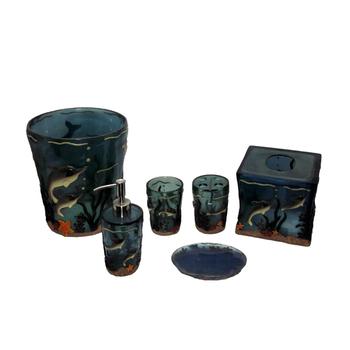Ea0200 dolphin bathroom accessories including resin toilet for Bathroom accessories hs code