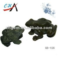 China Animal Carvings Semi-precious Gemstone Frog Carving