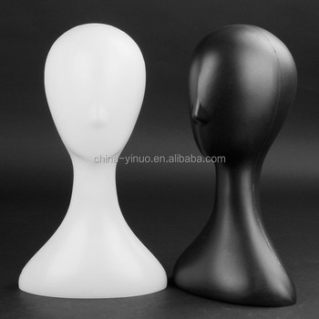White and black plastic glossy training mannequin head taobao agent