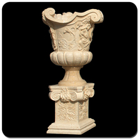 China Yellow Marble Garden Decoration Natural