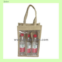 Jute wine bag-3 bottle
