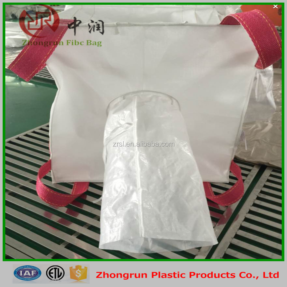 2016 Flexible intermediate bulk container/fibc big bags/liner bags for sale , Zhongrun Plastic big bags