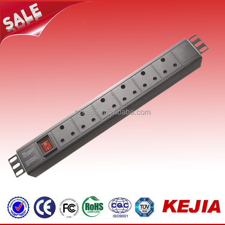 250V Single-Phase South Africa (6 SABS 164-1) Switched Socket Outlet Rack PDU