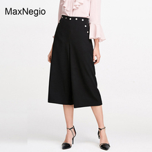 MaxNegio Black Cropped Pants Women Loose Cheap Trousers in China