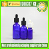 blue e cigarette liquid bottles 1/2 oz ejuice glass bottles with cheap price