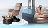 Doshower white and black salon chairs foot spa hydrotherapy pedicure spa chair