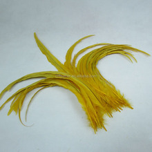 Cheap sale beautiful 40-45cm Bleached and Dyed colorful rooster cock tail feather