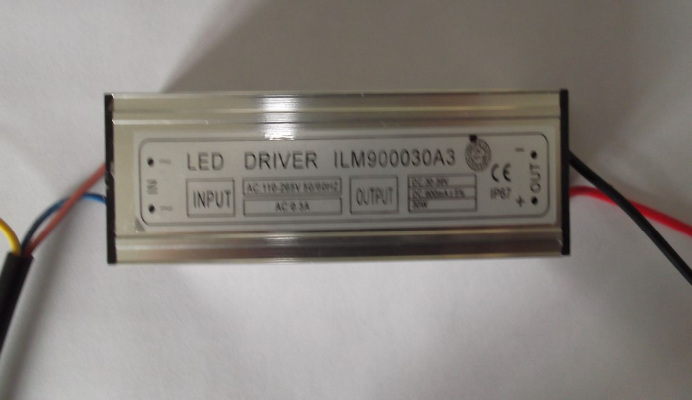Hot selling waterproof constant current LED driver 600mA 30W