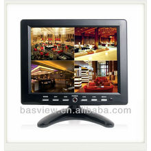 cctv lcd 8 inch four channel quad monitor