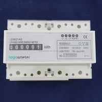 Three phase din rail CT type connection cyclometer energy meter,kwh meter