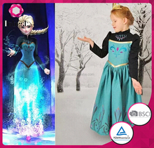 Princess elsa costume fancy princess costume frozen elsa costume for kids