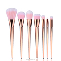 Pro 7pcs Cosmetic Brush rose gold makeup brush set
