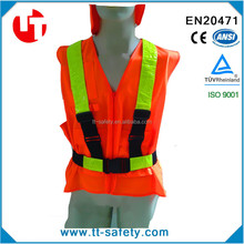 hot sales pvc high visibility reflective Vest belt Safety Strip for Warning Security Working