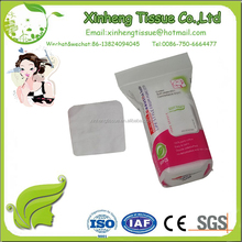 Newest natural Soft square makeup useful durable simple Packing remover cotton pad
