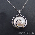 Sterling Silver Freshwater Cultured White Pearl Pendant Sets DRSP0216