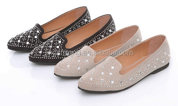 Diamon pattern design flat footwear wholesale /women loafer design fashion shoes flat turkish shoes