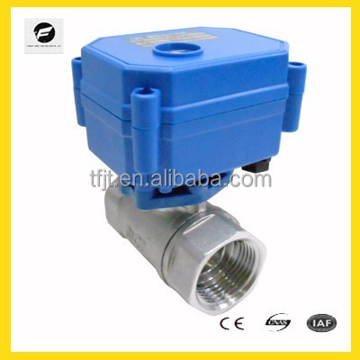 "2way SS304 G3/4"" DC3-6V electronic shut off valve for automatic control fluid system"