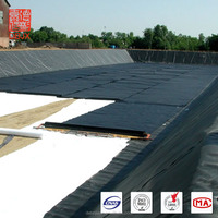 1.0mm thick black HDPE roof membrane for waterproofing