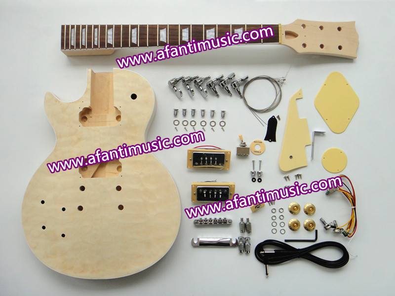 Afanti Music / Quilted Maple Top /Left Hand Version / Lp Standard Electric Guitar Kit (SDD-348K)