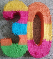 Children Bithday party supplies Number 3 pinata