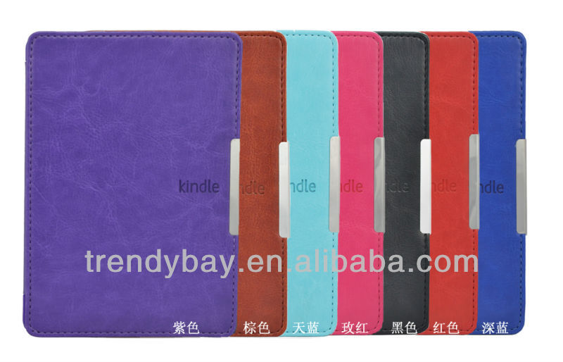 Smart Cover Leather Case for kindle Paperwhite eReader