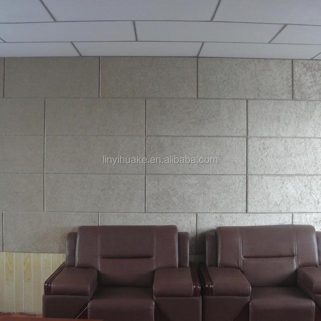 fabrics face Glass wool wall panel
