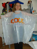 Disposable plastic rain poncho with custom printed for advertising and promotion
