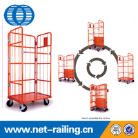 China strong and durable metal transport roller trolley