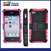Mobile Phone Accessories kickstand rugged robot phone case, silicon TPU hybrid 2 in 1 stand robot phone Case For iphone4s