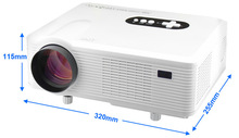 CL720 LED Projector 3000 Lumens 1280*800 Pixels With Analog TV Interface Projector For Home Entertainment Keystone Correction