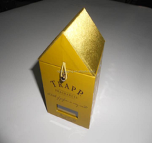 Luxury candle house shape gold cardboard candle packaging boxes