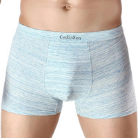 Fashionable breathable stretch underwear for men compression shorts leather underwear for men/boys pictures in boxer