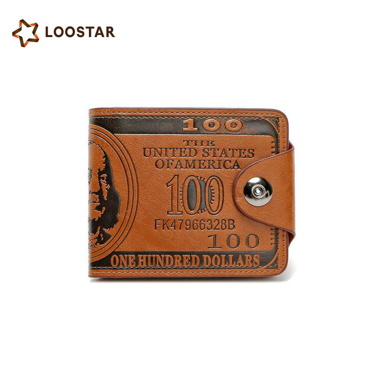 HOT Selling US100 Dollar Embossed Vintage PU Leather Men's Wallet