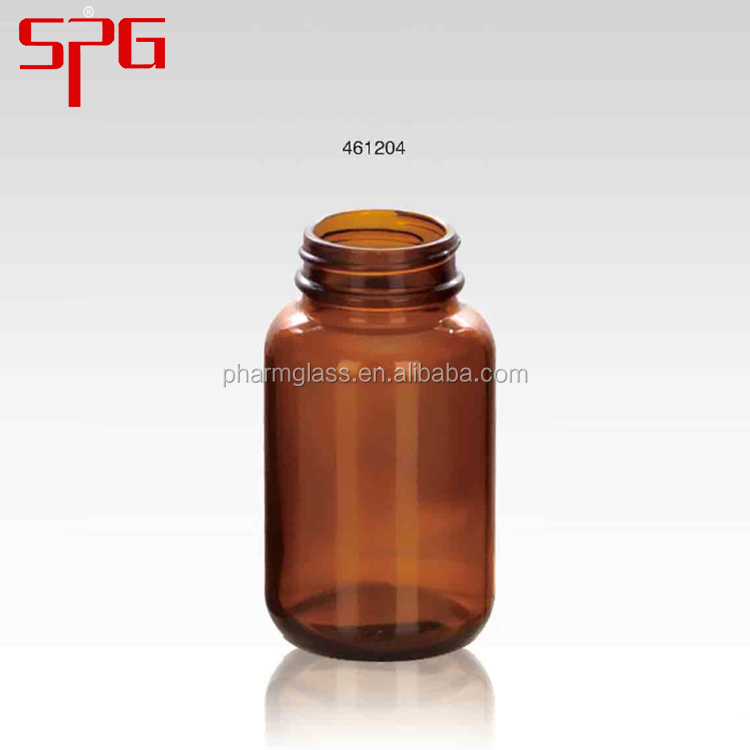 China supplier high quality wide mouth 120ml amber bottle set