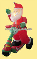 180cm inflatable Santa driving bike/bicycle/skids