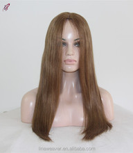 QingDao factory 100% Brazilian Human Hair brown 4#color machine made wigs silky Straight Wigs For beauty Women