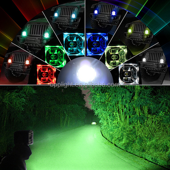 2017 Newest 3inch led pod light, 20w led flush mount cube, 12v 24v DC 20w led work light pod for offroad truck