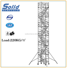 EN1004 aluminium stair scaffolding, mobile scaffold tower