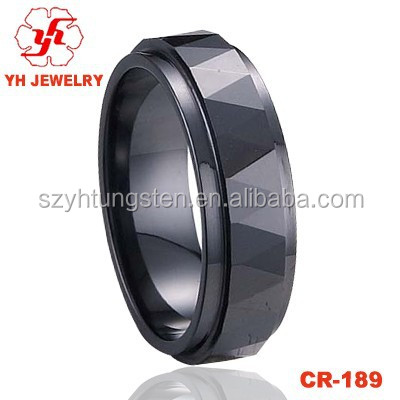 Shenzhen YH Jewelry Black Ceramic Ring Black Tungsten Ring
