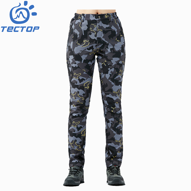 Women Camouflage Soft Trousers Winter Pants