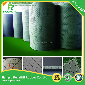 Eco-friendly Speial cut Drainage Mat/Shock pad/Underlay/Underneath for Artificial Grass, Sport field
